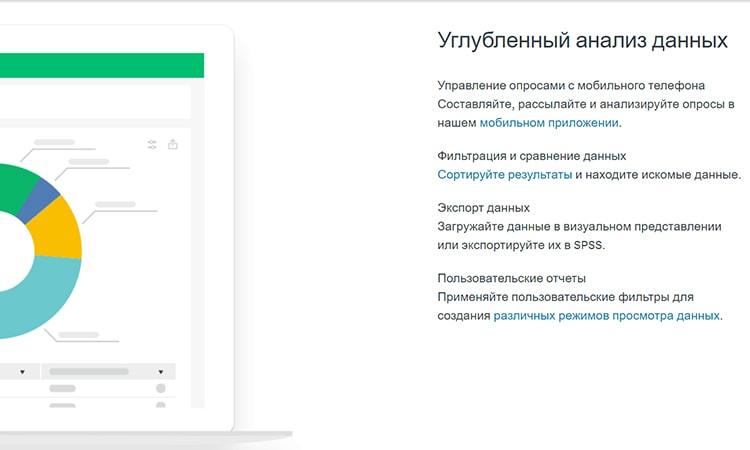 возможности сервиса опросов SurveyMonkey